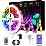 Ruban Led, L8star Led Ruban 5m Intelligent Bande Lumineuse Led 5050 RGB SMD Multicolore Bande LED Lumineuse avec Télécommande