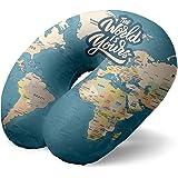 I-TOTAL® - Cuscino da viaggio/Cuscino da viaggio per collo Morbido per supporto cervicale/Cuscini Cuscino da viaggio diverten