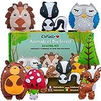 DeFieltro Animaux de la Forêt – Kit Feutrine – Materiel Bricolage Enfants – Kit Couture Enfant 10 Ans – Atelier Creatif…