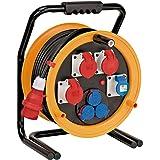 Brennenstuhl 1319110010 Brobusta CEE 4 IP44 kabelhaspel (kabelhaspel 40m, voor gebruik op bouwterreinen en permanent gebruik