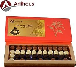 ARTIHCUS Delicious Rich Chocolates, Assorted Dark, Milk & White Chocolates - 40Pc