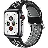 CeMiKa Correa Compatible con Apple Watch Correa 38mm 40mm 42mm 44mm, Suave Silicona Deporte Correa con Compatible con Apple W
