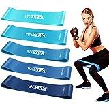 WOTEK Elastici Fitness, Bande di Resistenza Fitness Fasce Elastiche di Lattice con 5 Livelli di Resistenza per Fitness, Yoga,