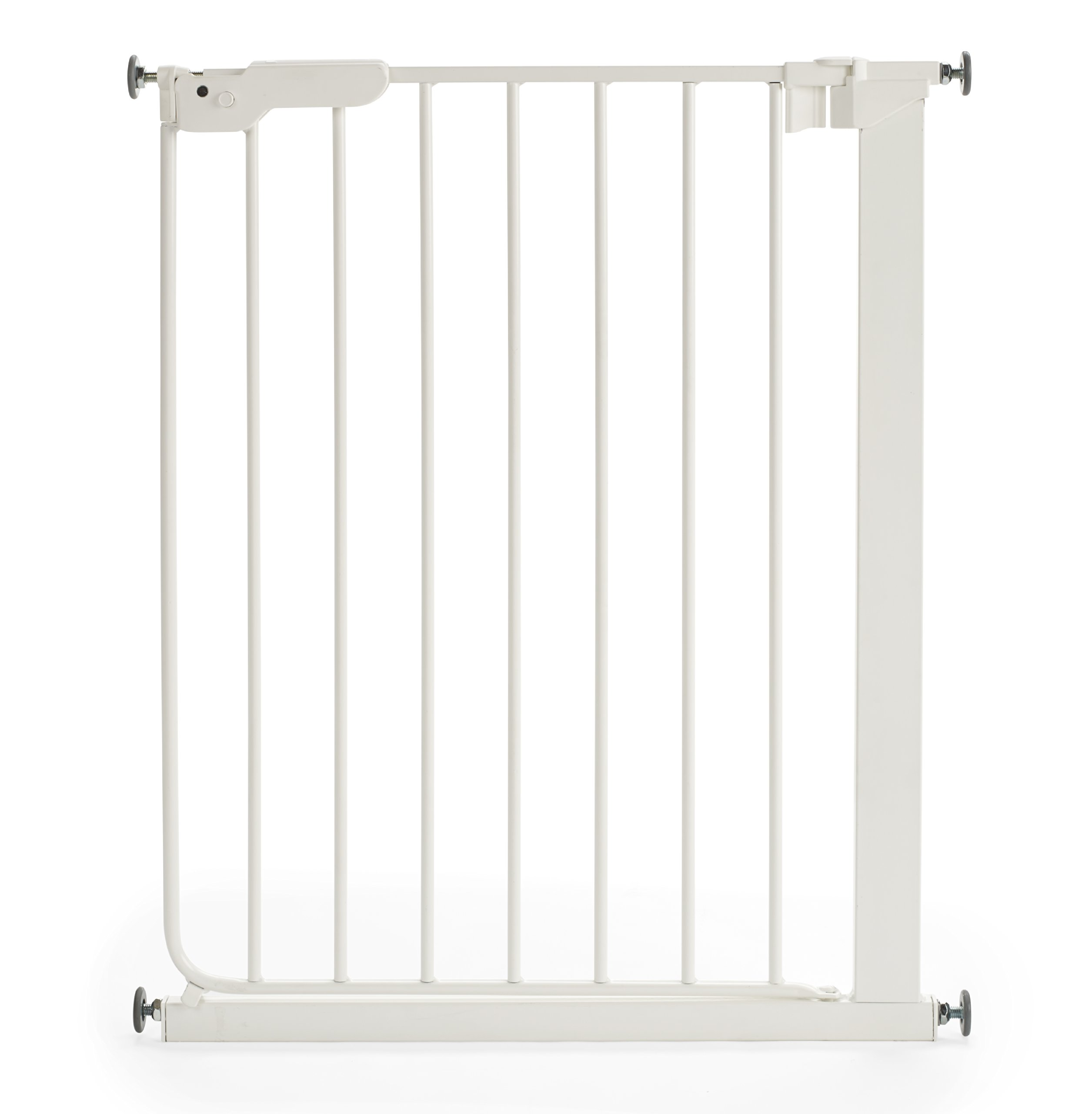 BabyDan 51994-2400-27-88 Slim Fit Stair Gate White  Baby Dan slim fit safety gate is designed for extra narrow openings The pressure fit make this super easy to install It offers a one hand 2 way opening for easy access between rooms 1