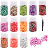 8500 Pieces Fruit Slices Cute Nail Art Slices Assorted Nail Decorations Nail Art Slime DIY Slime Making Kit with…