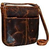 STILORD 'Lucy' Crossbody Bag Damen Leder Vintage Ledertasche Umhängetasche Modern für Freizeit Ausgehen Shopping Handtasche E