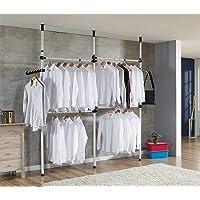 Cocoarm Garde-Robe Téléscopique Systèmes de Penderie Porte-Vêtements avec Barres Transversales Hauteur et Largeur…