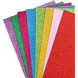 Healifty 10Pcs Fogli di Schiuma Glitter Eva Schiuma Carta Colorata Spugna Artigianale Schiuma per Progetti Fai da Te Scrapboo