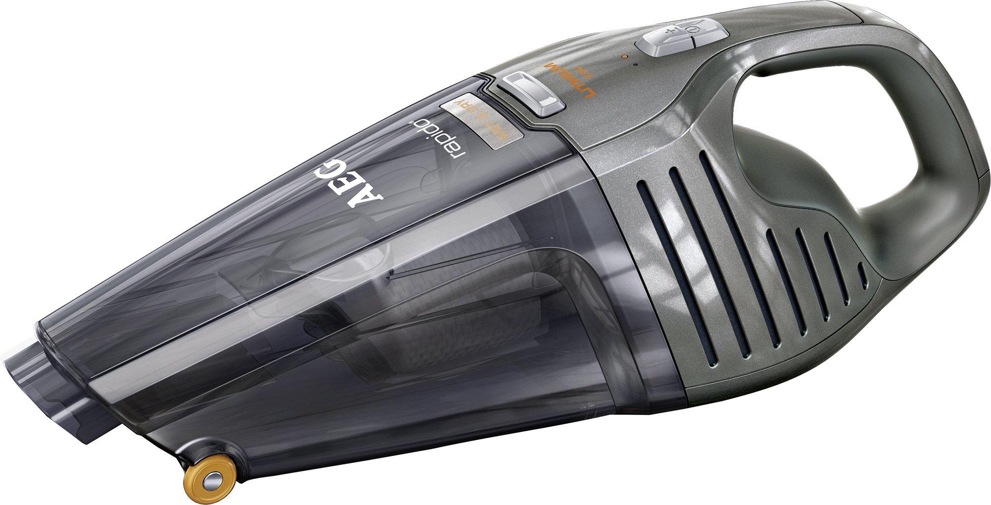 AEG ECO Li 14 Rapido AG6106WD Akkusauger (beutellos, Handstaubsauger mit 7.2 V Lithium-Power-Akku, Nass und Trocken…