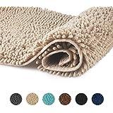 FCSDETAIL Tappeti da Bagno a Pelo Lungo Antiscivolo 60X90 cm, Tappetino Lavabile in Lavatrice con Morbida Microfibra di cinig