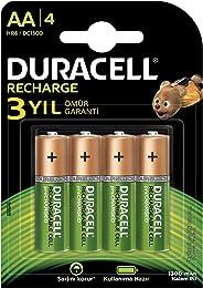 Duracell 1300 Şarj Edilebilir Pil 4'lü, AA, 1300 Mah, Bakır/Siyah