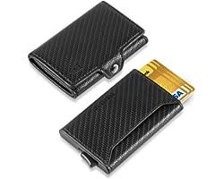 DODENSHA Card Holder Wallet, Wallets Mens Slim, Credit Card Holders RFID Blocking, 2 in 1 Design Minimalist Wallet for Men Po