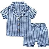 Kinder Unisex Baby 2 Stück Bekleidungsset Herbst,Yanhoo Neugeborenes Baby Jungen Mädchen Elefanten Gestreift Print T…