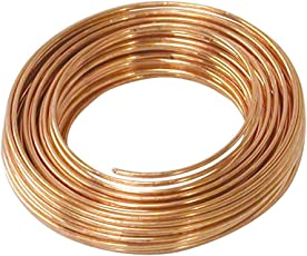 20 Meters Copper Wire - 18 Gauge (1.219 mm Diameter) - Dead Soft - 99.9% Pure Copper Wire - Without Enameled - DIY Jewellery & Artistic
