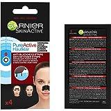 Garnier SkinActive - Patchs Anti-Points Noirs Charbon PureActive - Lot de 4 Patchs