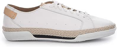 Sneakers in Pelle Bianca con Inserti in Corda - 18301 Prince Bianco - Taglia