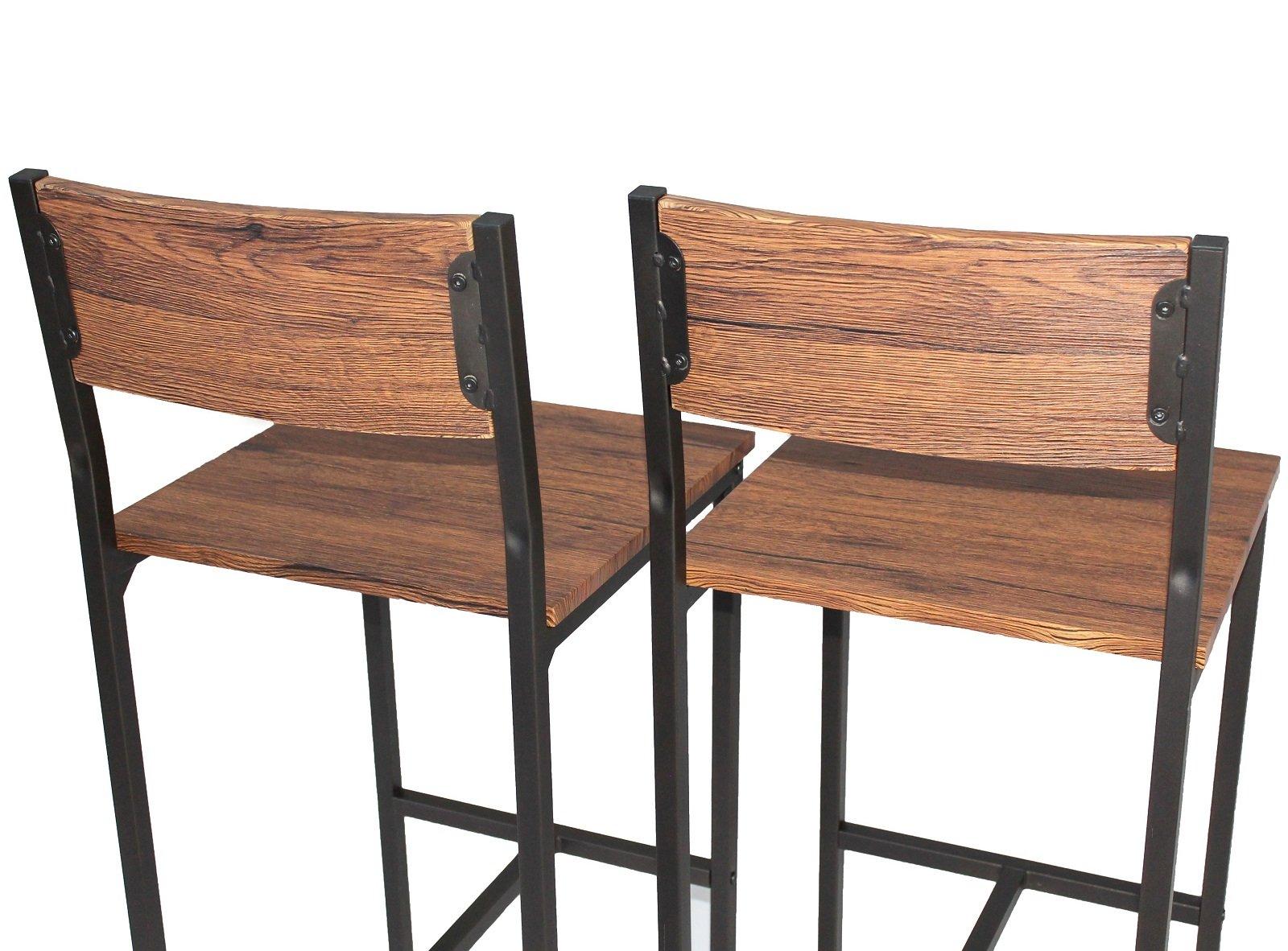 Yelloo set 2 sgabelli bar marrone mobili cucina arredamento mod