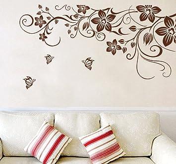 ufengke® bella vite fiori e farfalle adesivi murali, camera da ... - Decorazioni Per Pareti Soggiorno