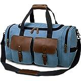 TAK Vintage Reisetasche Weekender Duffle Bag Wochenend Tasche Handgepäck Weekend Tasche Umhängetasche Leder mit Schuhfach für
