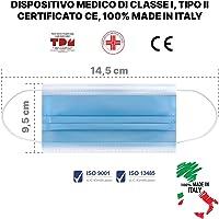 50pz Mascherine Chirurgiche per Bambini 100% Made in Italy Certificate CE Dispositivo Medico Classe I Tipo II Registrato…