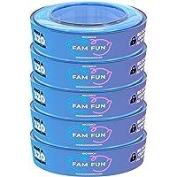 Fam Fun - 5 Ricariche Profumate Compatibili con Mangiapannolini Maialino Foppapedretti, AngelCare, LitterLocker, II e…