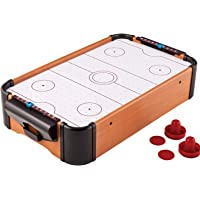 MUREN Small Electric Air Powered Hockey,Table Top Indoor Sports Gaming Set with Equipment Accessories 2 Paddles, 2 Pucks…