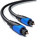 deleyCON 0,5m Optische Digitale Audiokabel SPDIF 2x Toslink-Connector Digitale Kabel Audiokabel LWL Digitale Glasvezelkabel