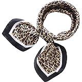 RIIQIICHY Pañuelo de Seda para Mujer Pañuelos para Cuello Colores y Diseños Variados 70 x 70 cm