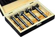 Jon Bhandari Tools Hinge Boring Forstner Drill Bit Set Carbide Tipped for Wood and Plywood (Sizes: 15, 20, 25, 30, 35 mm)