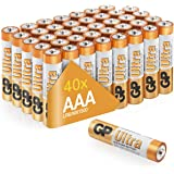 AAA Batteries pack of 40 by GP AA Batteries Ultra Alkaline - 10 year shelf life, ideal for everyday hungry devices, long last