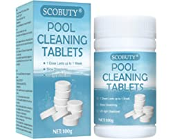 SCOBUTY Chlorine Tablets for Swimming Pool,Chlorine Tablets,Multifunction Chlorine Tablets,Pool Cleaning Tablets,Multifunctio