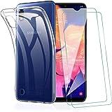 KEEPXYZ Funda para Samsung Galaxy A10 + 2 Pcs Protector de Pantalla para Samsung A10 Cristal Templado, Flexible Suave Silicon