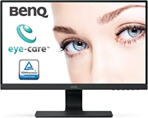 BenQ GW2480 24 Inch FHD (1080p) Premium IPS Panel PC Monitor, Edge to Edge Bezel Design, HDMI, VGA, DP connectivity & Speaker