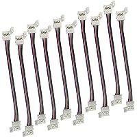 LitaElek RGB 5050 Câble d'extension de Ruban LED Connecteur de Bande LED à 4 Broches pour Strip LED SMD 5050 RGB…