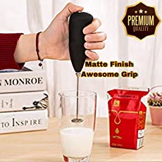 Aaj Jio Stainless Steel Mini Hand Blender Mixer Froth Whisker Latte Maker for Milk, Coffee, Egg Beater and Juice