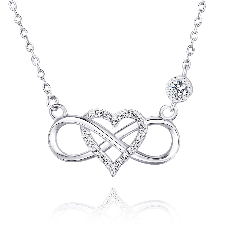 Bracelet de No/ël Romantique pour Femme avec Pendentif c/œur /éternel et oxyde de Zirconium