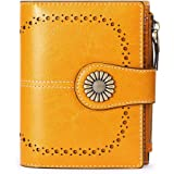 SENDEFN Portafoglio Donna in Pelle Vera,Portamonete Donne Cuoio di Blocco RFID in Cuoio con 16 scomparti per carte di credito
