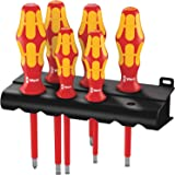 Wera 5006145001 Kraftform Plus 160I-6 Insulated Professional Screwdriver Set, 6 - Piece