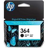 HP 364 CB316EE, Negro, Cartucho de Tinta Original, de 250 páginas, para impresoras HP Photosmart serie C5300, C6300, B210, B1