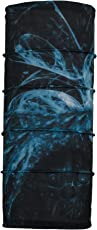 Autofy Multipurpose Unisex Wildfire Print Lycra Headwrap/Bandana for Bikes (Blue and Black Freesize)