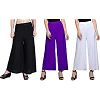 Lili Women's Loose Fit Palazzo (Pack of 3)