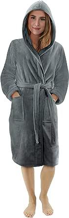 NY Threads Vestaglia di lusso da donna | Accappatoio Super Soft Fleece Donna Accappatoio | Accogliente felpa con cappuccio Loungewear e abbigliamento da notte