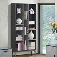 Maison Concept Montero Shelf, Black and Grey - H 2000 x W 300 x D 1020 mm
