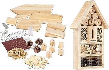 PEARL Insektenhaus: Insektenhotel-Bausatz, Nistkasten und Schutz für Nützlinge (Insektenhotel Bausatz Kinder)