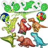 yoliyogo Palloncino Dinosauro per Festa di Compleanno Dinosauro Enorme x8pcs più Dinosauro Palloncini Lattice Palloncini x10p