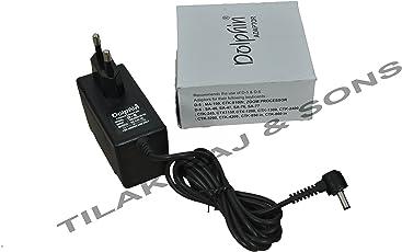 Tilak Raj & Sons (TM) -Dolphin D-6 AC Adaptor 9.5V Power Adaptor for Casio Keyboard