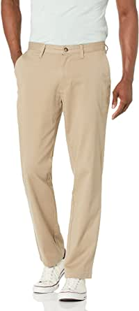 Nautica Men's Classic Fit Flat Front Stretch Solid Chino Deck Pant Business Casual