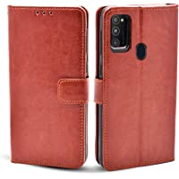 Pikkme Galaxy M30s / M21 Flip Case | Vintage Leather Finish | Inside TPU with Card Pockets | Wallet Stand and Shock…