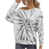 Camicia Tie-Dye da Donna Moda Casual a Maniche Lunghe con Maniche Lunghe Autunno e Inverno Pullover Trendy Top