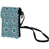 Handy Umhängetasche Damen Farbig Kleine Tasche Frauen Brieftasche Cross-Body PU Leder Shoulder Bag mit Kartenfächer Verstellb